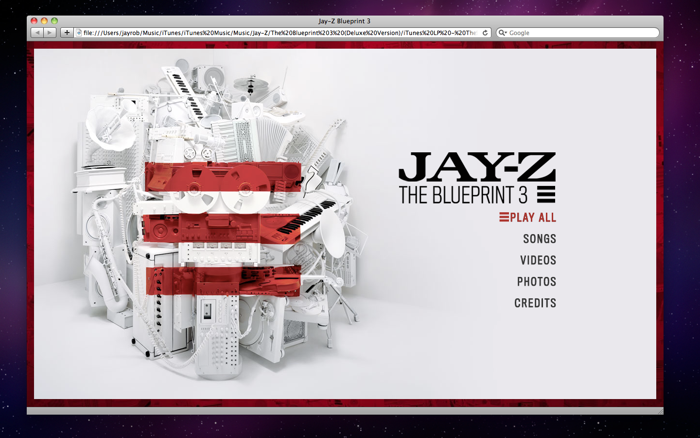 Some notes on itunes lp jay robinson jayrobinson itunes lp jay z the blueprint 3 when viewed in safari 403 malvernweather Images
